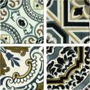 Arezzo Oro Conjunto Комплект декоров из 4 плиток 150х150 мм/150х600 мм Latina