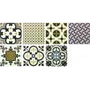 Arezzo PCD Комплект декоров из 7 плиток 300х300 мм/600х900 (1200)мм Latina