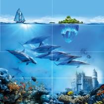 Ocean Deep Панно P8D302 80х80 (из 8 плиток) Ceramica Classic