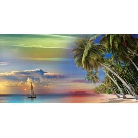 Tropical Night Панно P4D290 80х40 (из 4 плиток) Ceramica Classic
