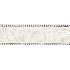 Fiora white Бордюр 01 7,5x25 Шахтинская плитка