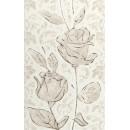Fiora white Декор 01 25x40 Шахтинская плитка