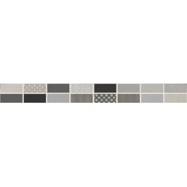 Fiori Grigio Бордюр металлизированный 1506-0101 6,5х60 LB-Ceramics