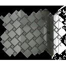 Мозаика зеркальная Серебро + Графит С70Г30 ДСТ с чипом 25х25 и 12х12/300 x 300 мм (10шт) - 0,9 ДСТ