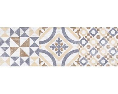 Pub Плитка настенная белый узор 17-00-01-1196 20х60 Ceramica Classic